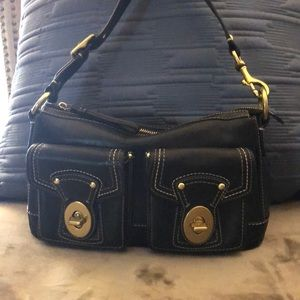 Coach Leather Purse with 2 Front Pockets
